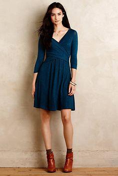 I loooooooooooove fit and flare dresses with 3/4 length sleeves