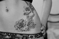 Hip tattoo, very pretty