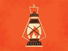 Camping Lantern - Adam Grason #design #vector #illustration