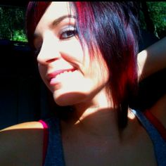 red/black hair. and yes, I did it myself.