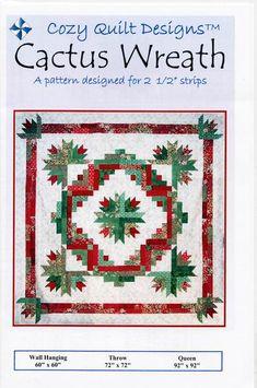 "Cozy Quilt Designs CACTUS WREATH A Strip Club Pattern for 2 1/2"" Strip – Jordan Fabrics"