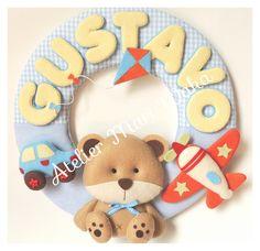 Enfeite Porta Maternidade Urso Brinquedo
