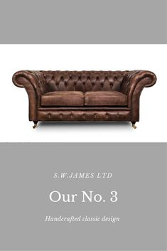 3 Chesterfield Sofa With Gently Curved Back Arms