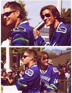 Jensen and Jared - Canucks fans