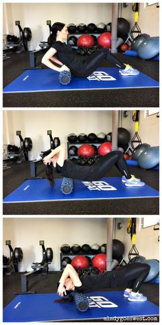 Foam rolling 101 - Back via A Lady Goes West http://aladygoeswest.com/2015/01/13/how-to-foam-roll-and-a-rumbleroller-giveaway/