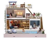 swedish modern dollhouse Lundbi