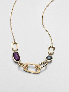Marco Bicego Semi-Precious Multi-Stone & 18K Gold Station Necklace.2120<3 •Made in Italy
