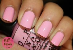"Probably my most favorite nail color ""Pink Friday"" inspired by Niki Minaj made by OPI"