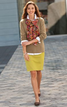 Scarf with collared shirt
