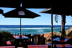 The stunning ocean view from LookOut Deck Restaurant in Plettenberg Bay is ideal for whale watching season in South Africa!
