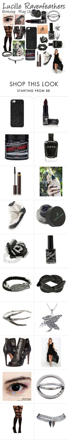 """""""Lucille Ravenfeathers."""" by thepinkandpurplerainbow ❤ liked on Polyvore featuring BaubleBar, Manic Panic NYC, Zoya, Tom Ford, Vincent Longo, Bling Jewelry, King Baby Studio, Aurum By Gudbjorg, Carolina Glamour Collection and Rebecca Minkoff"""