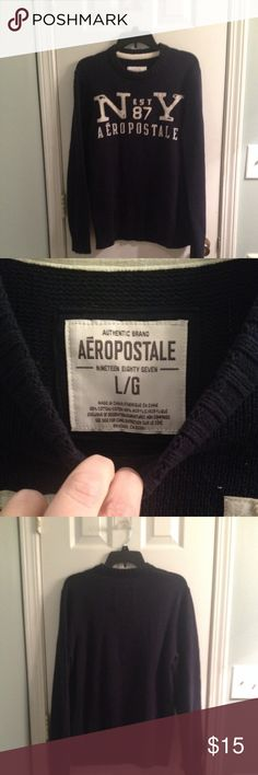 Aeropostale Navy Sweater Aeropostale Sweater Navy Great Condition size Large Men's Aeropostale Sweaters Crewneck
