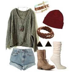 """""""Mainstream Hipster."""" by naturechild on Polyvore (not a fan of the shorts but I love everything else)"""