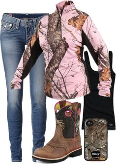 Pink camo all me Country Style Outfits, Country Wear, Country Girl Style, Country Fashion, My Style, Country Life, Country Nails, Country Living, Camo Outfits