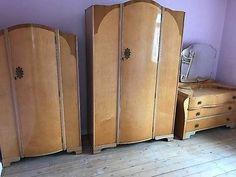 Bedroom Furniture 1950 S rare vintage 1950s epstein furniture birdseye maple bedroom suite