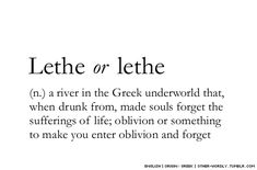 pronunciation | le-THe (leh-theh) or lE-THE (lee-thee)