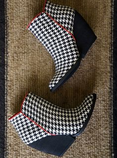 Houndstooth Booties by Very Volatile