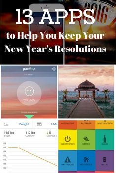 Don't flake out this year. There's an app for every resolution.