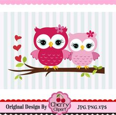 Valentine's Day Sweet Owls,Owl Couple Clipart digital clip art for Personal and Commercial Use by Cherryclipart on Etsy Couple Clipart, Owl Wallpaper, Owl Clip Art, Real Estate Logo Design, Owl Family, Owl Nursery, Art Birthday, Owl Print, Baby Owls