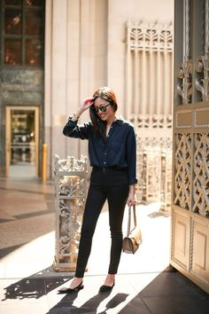 Denim/Denim | 9to5Chic | Bloglovin'