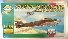 Vintage SMER Plastic Model Airplane Kit--Savoia Marchetti S.M.79 Sparviero- NEW