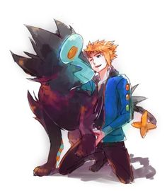 Volkner and Luxray << If I ever got a chance to date a Gym Leader, I'd date this guy <3