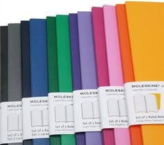 LOVE these gorgeous Moleskines in every color. So affordable at Target, too.