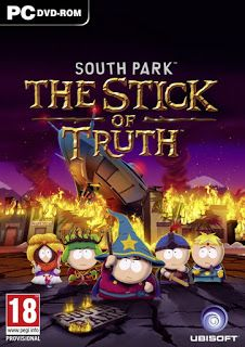 South Park: The Stick of Truth Genre : RPG / Adventure | DVD : 1 DVD | Price : Rp. 5.000,-  Minimum System Requirements: CPU: Intel Pentium Dual-Core E2180 @ 2.0 GHz or AMD Athlon64 X2 3800+ @ 2.0 GHz CPU Speed: Info RAM: 2 GB OS: Windows XP SP3, Vista (SP2), Windows 7 (SP1), Windows 8 Video Card: 512 MB Direct X 9.0 compliant with shader model 3.0 or higher (NVIDIA GeForce 8800 GT / AMD Radeon HD 2900) Sound Card: Yes Free Disk Space: 6 GB