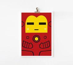 Ironman 5x7 art print. $8.00, via Etsy.