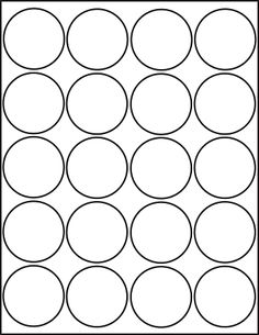 Free Printable  Inch Round Label Template  SelfCare Planner