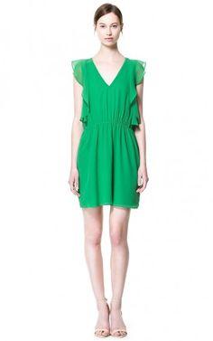 Ruffles Sleeves Chiffon Dress - $14.90