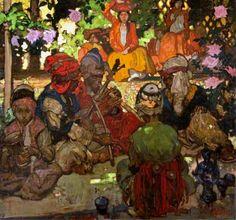 Arab Musicians by Frank William Brangwyn, painted 1896