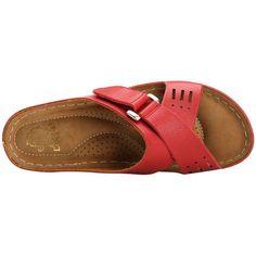 Alexis Leroy Comfortable Insole Buckle Strap Vamp Women's Wedge Sandals Shoes Flats Sandals, Girls Sandals, Platform Wedge Sandals, Leather Sandals, Dressy Flip Flops, Beautiful Sandals, Shoe Pattern, Comfortable Sandals, Womens Slippers