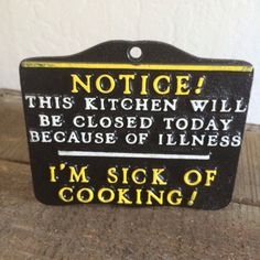 Cast Iron Kitchen Plaque This Kitchen Will be by ACertainFeel, $10.00