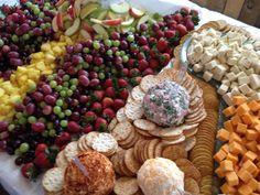 Fruit, cheese, dip & cracker display - The Fatt Apple