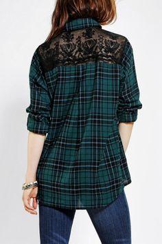 BDG Lace Button-Down Shirt