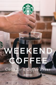 Learn how to use a coffee press to brew Starbucks® Coffee At Home. While brewing with paper filters absorbs the natural oils a coffee press retains them. I Love Coffee, Coffee Break, My Coffee, Coffee Drinks, Coffee Cups, Coffee Art, Coffee Time, Coffee Maker, Fun Drinks