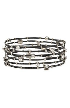 Bracelet 3500: Clear/ Mix Black and Silver