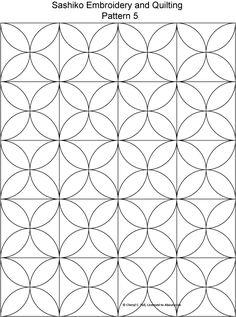 FREE Sashiko Embroidery Patterns - Set 1: Sashiko Pattern 5