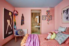 Pink Bedroom In The Australian Home Of Kip Co Cofounder Designer Hayley Pannekoecke Bedrooms