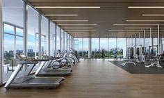 Gallery of Ricardo Bofill Makes US Condominium Debut with 3900 Alton in Miami Beach - 14 Miami Beach, Club Design, Gym Design, Luxury Gym, Luxury Homes, Gym Center, Gym Interior, Interior Design, Hotel Gym