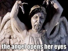 The angel opens her eyes #WeepingAngels #DrWho