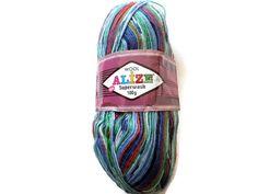 Superwash Sock Yarn Alize  Destash yarn Sock by Solviashop on Etsy