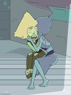 of what I draw is Lapidot. Steven Universe Lapidot, Steven Universe Ships, Steven Universe Funny, Lapis And Peridot, Cartoon Ships, V Cute, Cartoon Tv Shows, Lap Dogs, Universe Art
