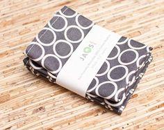 EcoFriendly Small Cloth Napkins  Set of 4  N314s by JAQSstudio, $7.00