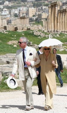 Camilla visiting the ancient Roman ruins of Jaresh in Amman, Jordan 13 Mar 2013 ( Source: Chris Jackson/Getty Images Europe)