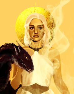 Khaleesi / Targaryen / Dragon / Celestial / Gold / Goddess / Game of Thrones