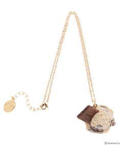 Café Mocha Biscuit Ice Necklace
