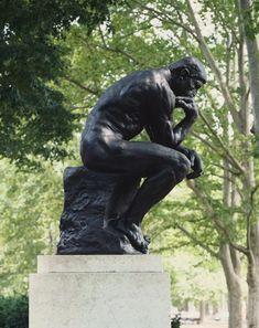 Rodin - The Thinker (Seen at The Rodin Museum, Philadelphia and at The Norton Simon Museum, Pasadena, CA) Auguste Rodin, Musée Rodin, Alexander Calder, Barbara Hepworth, Louise Bourgeois, Modern Sculpture, Sculpture Art, Metal Sculptures, Abstract Sculpture