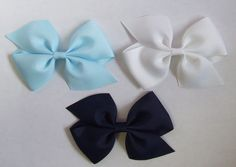 "3.5"" Pinwheel Grosgrain Bow - Children's hair clips, baby hair bows, barrettes, headbands, hair bow holders"